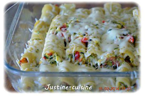 recette Rigatonis farcis aux légumes et chorizo