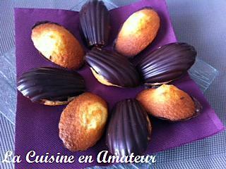 recette Madeleines coques chocolat