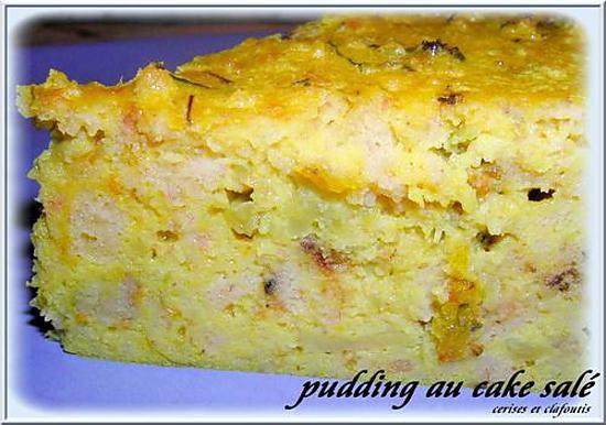 recette PUDDING AU RESTE DE CAKE SALE