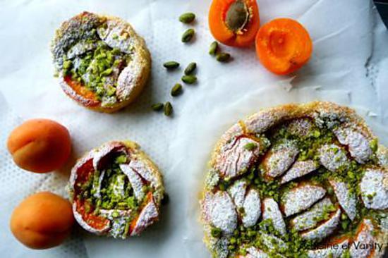 recette Tarte aux abricots et pistaches