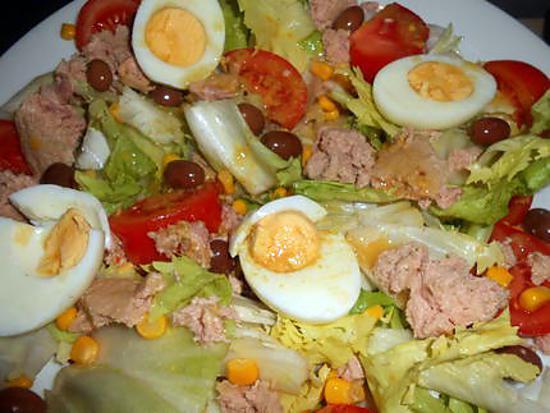 recette Salade composée au thon