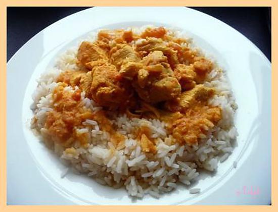 recette Curry de poulet aux abricots