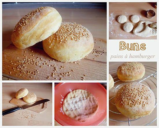 recette Buns (petits pains à hamburger)
