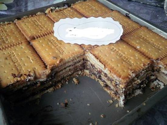 recette gâteau petit beurre et crème mont blanc
