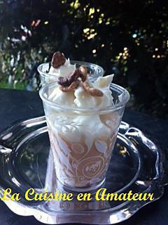 recette Verrine express crème pralinée et mascarpone