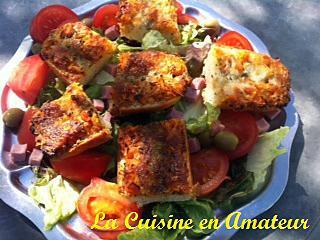 recette Salade de tomate et bruschetta mozzarella, tomate, basilic