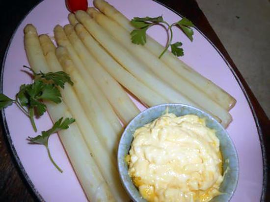Recette d 39 asperges blanches a la mayonnaise - Asperge blanche a la poele ...
