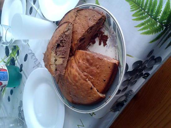 recette Gâteau vanille cacao