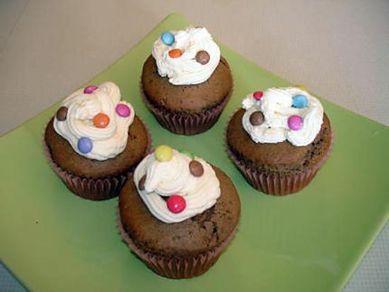 recette Cupcakes au chocolat et aux smarties