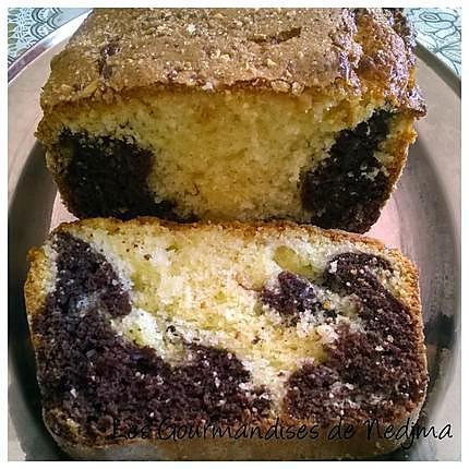 recette de cake au yaourt marbr. Black Bedroom Furniture Sets. Home Design Ideas