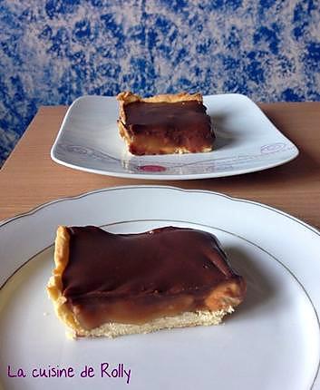 Recette De Tarte Chocolat Caramel Et Cacahuetes Facon Snickers