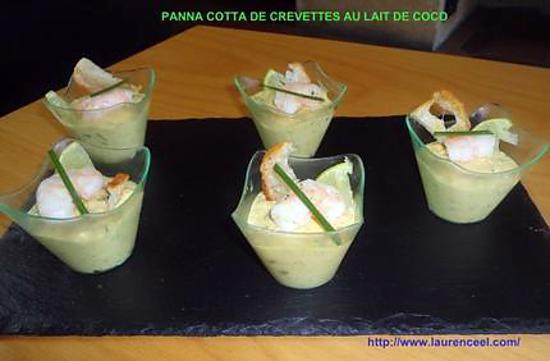 recette de panna cotta de crevettes au lait de coco. Black Bedroom Furniture Sets. Home Design Ideas