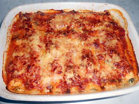 Cannelloni blette et brocciu gratinés 430