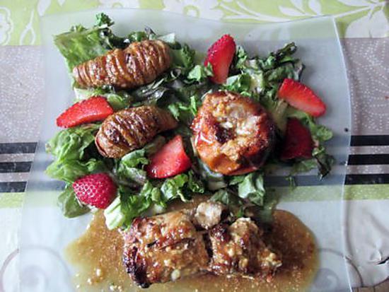 recette escalope de veau ,,pain d épices ,p de terre de rosy,,pomme d italmo