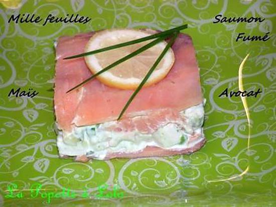 recette Mille feuilles de saumon et crudités