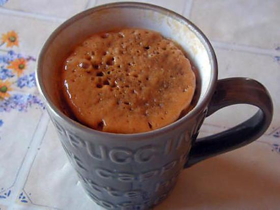 recette Mug cake au chocolat noir