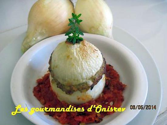recette Oignons de Pézenas farcis à l'italienne