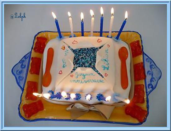 recette Gâteau d'anniversaire au chocolat.