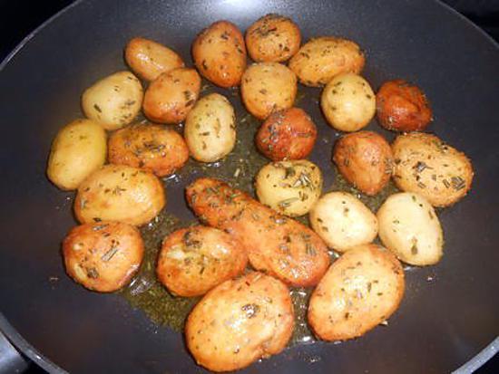 Pommes de terre roties au miel et romarin 430