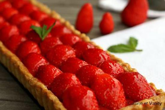 recette Tarte 100% fraises mentholée