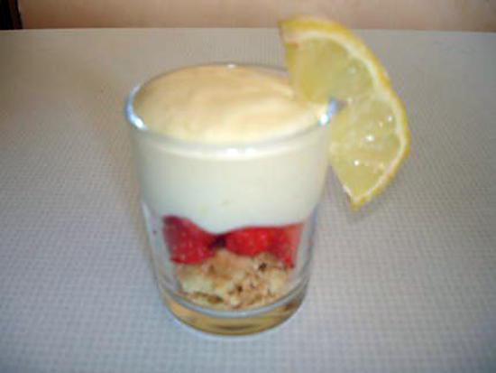 recette Tiramisu au citron et aux fraises
