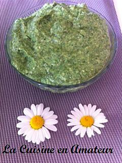 recette Pesto d'épinard