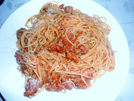 Spaghetti sauce porc et veau et origan 430