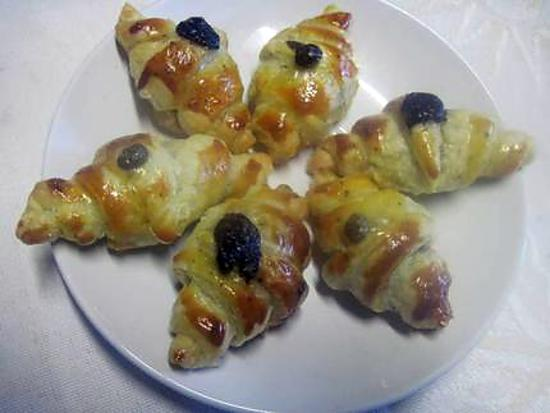 recette Mini petits croissants aux anchois.