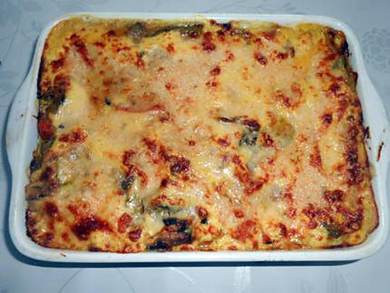recette de lasagne aux legumes et au safran. Black Bedroom Furniture Sets. Home Design Ideas