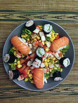 Recette de salade d 39 t saveurs asiatiques for Entree froide ete