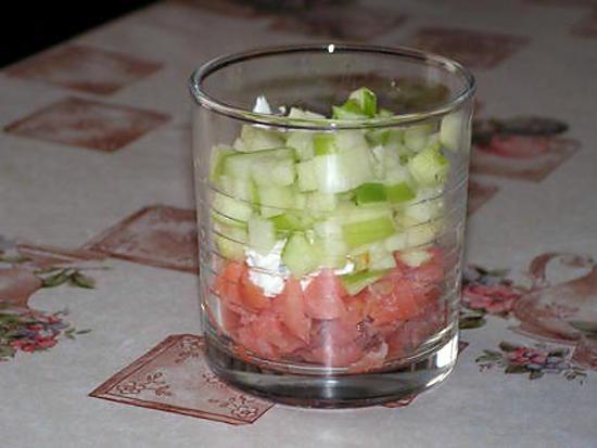 Recette de verrines au saumon et ch vre frais - Verrine simple et rapide ...