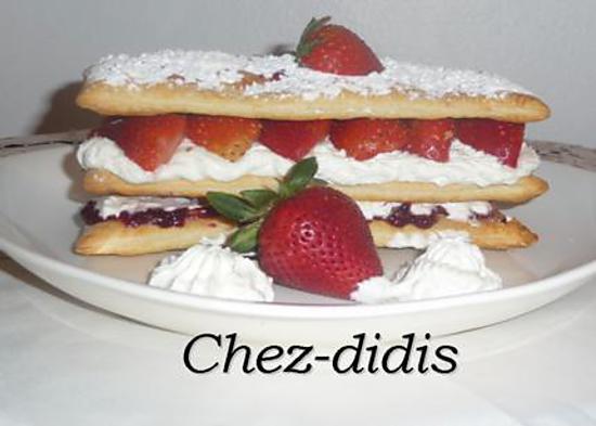 recette Millefeuille aux fraises