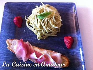 recette Bruschetta au jambon cru et mozzarella