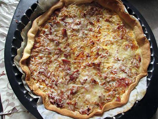 recette quiche  poireaux  surimi saumon  lardons  recette revisitée  d  italmo et