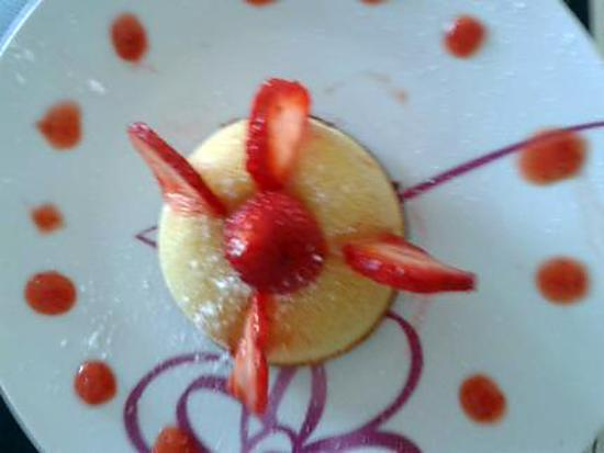 recette fondant chocolat blanc coeur de fraises