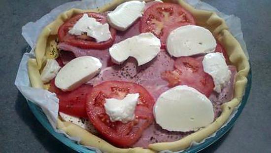 recette tourte jambon /mozarella