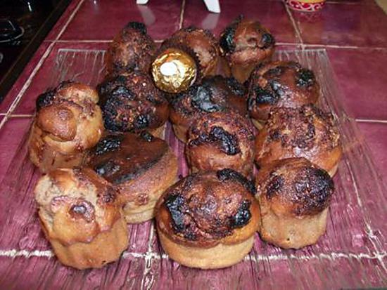 recette Muffins aux ferrero rocher et éclats de chocolat blanc