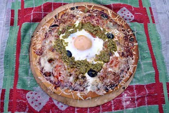 recette Pizza au chorizo et ratatouille