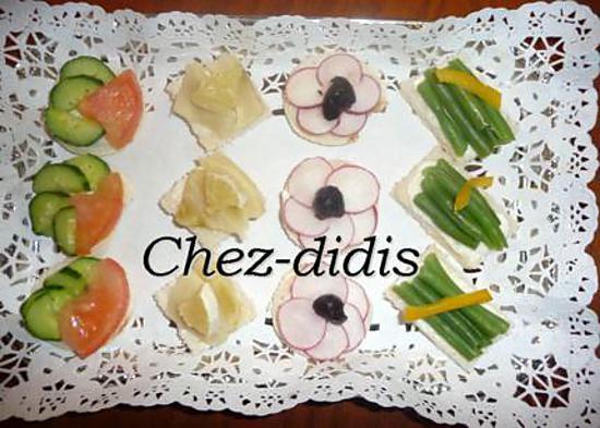 recette Canapés fraîcheur potager