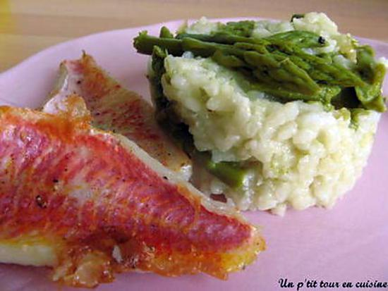 recette Risotto aux asperges et ses petits filets de rougets