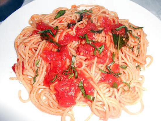 Spaghetti au basilic 430