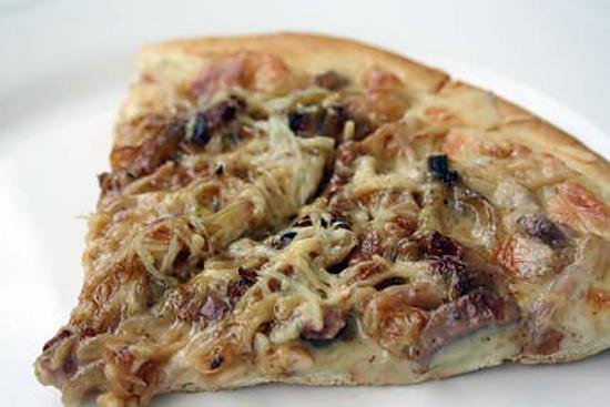 recette Pizza à la cancoillotte