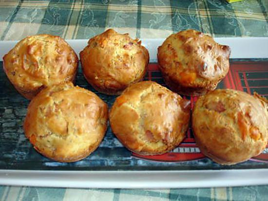 recette Muffins au Hollande jeune et au bacon