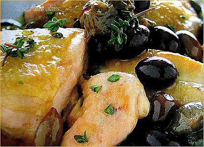 """recette Poulet aux olives """"Taggiasche"""""""