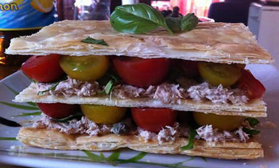 recette Mille-feuilles thon-tomates