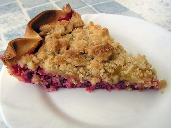 recette tarte crumble aux groseilles
