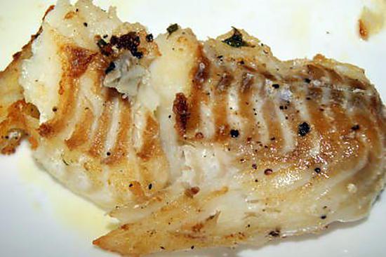 Recette de dos de cabillaud grill au thyn citron for Cabillaud fenouil