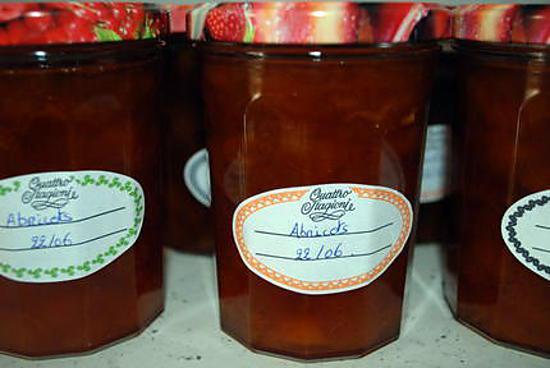 recette confitures d'abricots