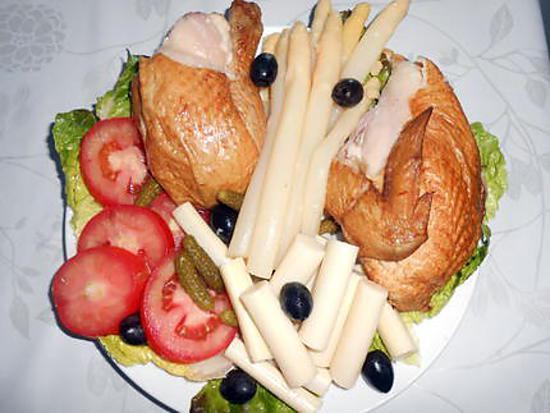 Assiette froide au poulet fumé 430