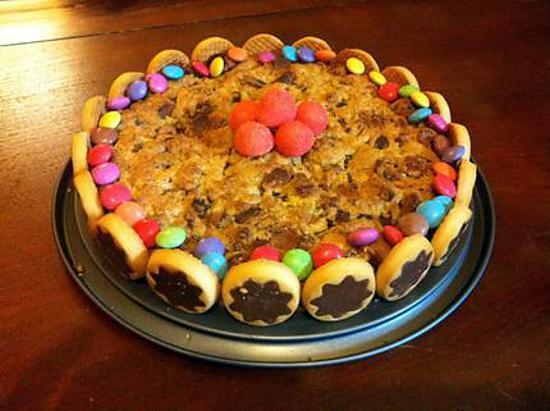 recette Cookie d'anniversaire